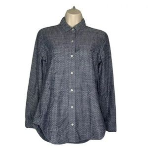 Banana Republic Denim Look XSmall Fitted Collared